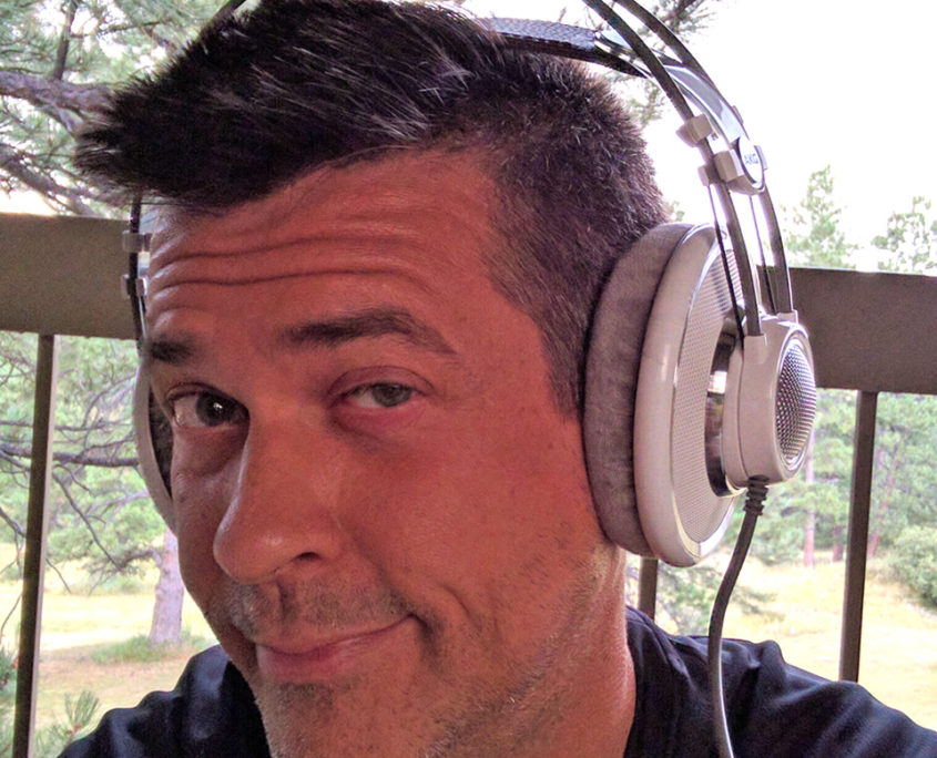 Les Konley sporting his AKG_K701s reference headphones