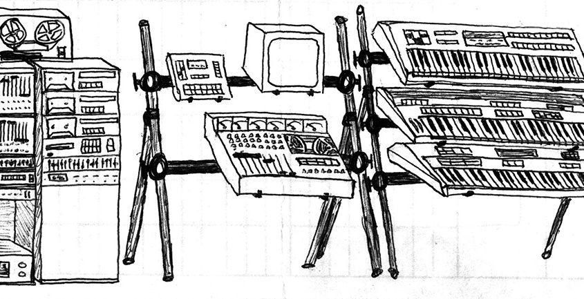 Dream Studio Rack and Keyboards circa 1989