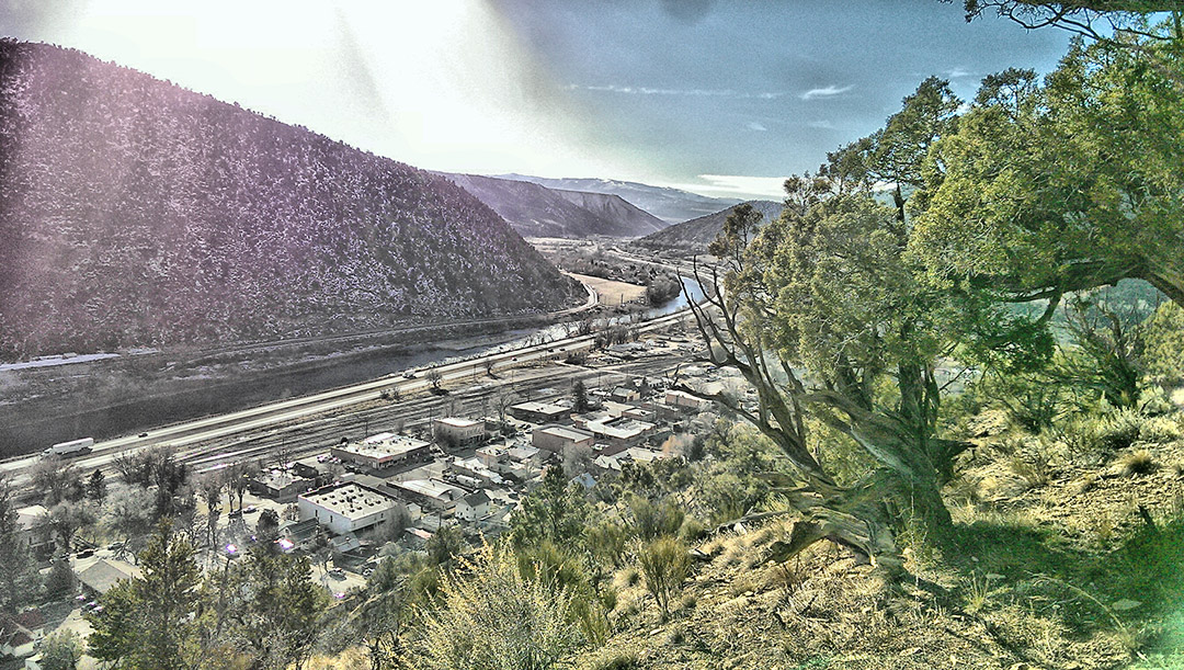 The Colorado River and the I70 Corridor at New Castle, Colorado